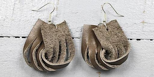 DIY Leather or Vegan Earrings