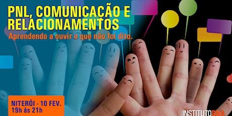 PNL, COMUNICAÇÃO E RELACIONAMENTOS - NITERÓI ingressos