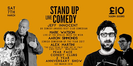 Stand up Comedy with Headliners Jeff Innocent & Mark Watson tickets