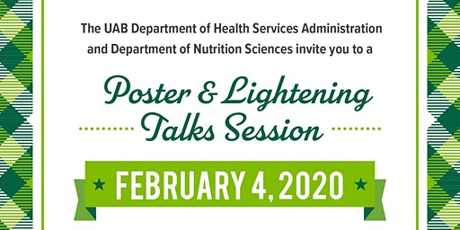 Health Services Admin and Nutrition Sciences  Poster & Lightening Talks