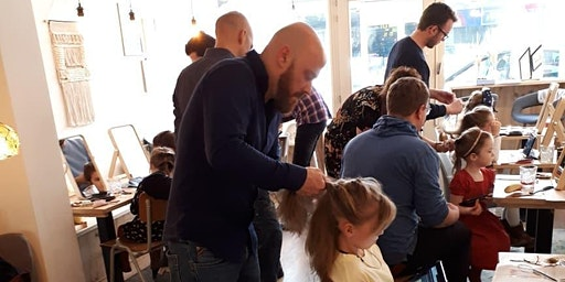 Papa-dochter Haarstyling Workshop