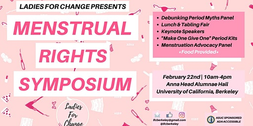 UC Berkeley's First Annual Menstrual Rights Symposium