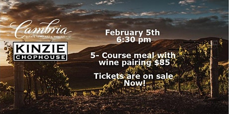 Cambria Wine Pairing at Kinzie Chophouse tickets