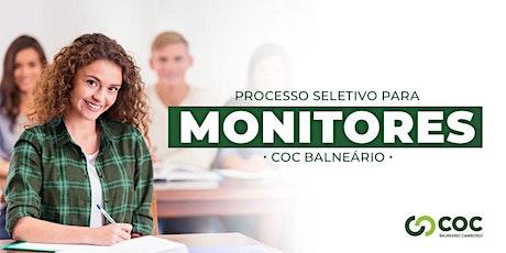 Concurso de Monitoria COC Balneário ingressos