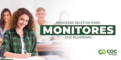 Concurso de Monitoria COC Blumenau ingressos