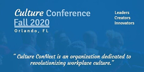 Culture ConNext Fall 2020 Conference tickets