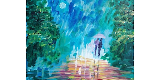 """3/23 - Corks and Canvas Event @ Eastlake Bar & Grill, Seattle """"Spring Showers"""""""