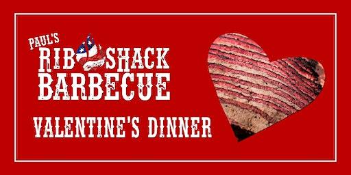 Valentine's Dinner at Paul's Rib Shack