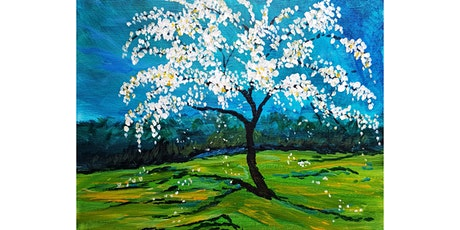 """3/26 - Corks and Canvas Event @ Chandler Reach, Woodinville """"Apple Tree Blossoms"""" tickets"""