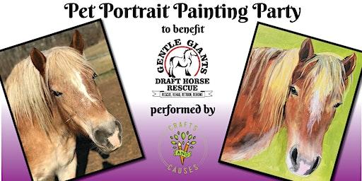 Pet Portrait Paint Party