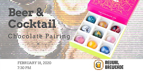 Beer & Cocktail Chocolate Pairing tickets