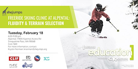 Girls with Grit & SheJumps Freeride Clinic at Alpental: Fluidity & Terrain tickets