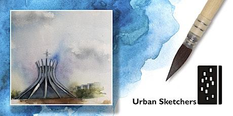 """Workshop de Aquarela para """"Urban Sketch"""" Brasília-curso básico-Domingo 15 de março ingressos"""