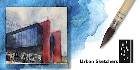 """Workshop de Aquarela para """"Urban Sketch""""- São Paulo- sáb & dom 21e22 março ingressos"""