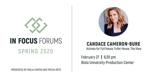 In Focus Forum: Candace Cameron-Bure