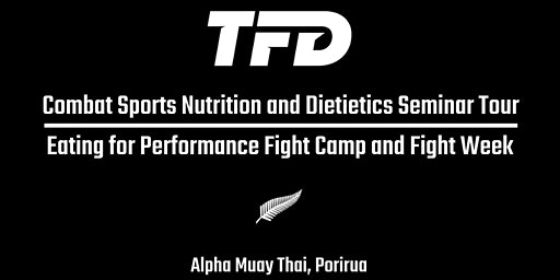 The Fight Dietitian Combat Sports Nutrition Seminar