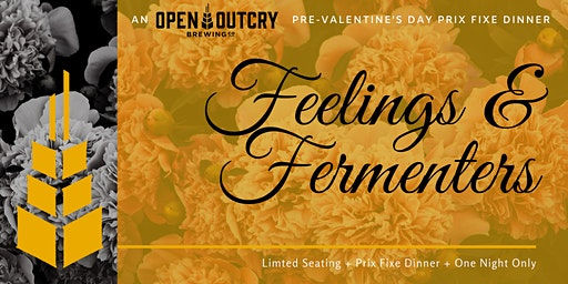 Feelings & Fermenters, a Prix Fixe Valentine's Day Dinner at the Brewery