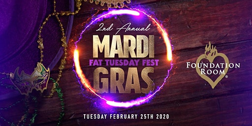 "HOUSE OF BLUES ""2020""  MARDI GRAS - FAT TUESDAY MEGA FEST! TICKETS ON-SALE NOW!"