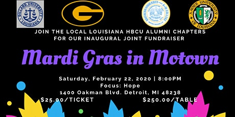 Mardi Gras in Motown: A Louisiana HBCU Cabaret tickets