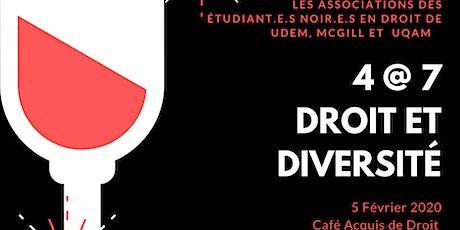 Première Édition 4@7 - Droit et Diversité billets