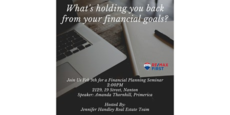 What's Holding You Back from Your Financial Goals? tickets