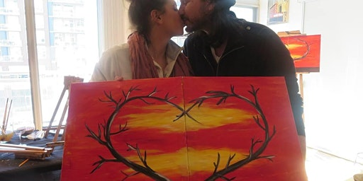 Valentine's Day Couples, Singles or Bffs Painting Workshop