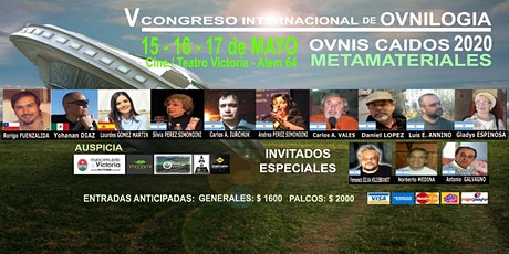"""V Congreso Internacional de Ovnilogía. """"Ovni Caídos 2020 - Metamateriales"""" entradas"""