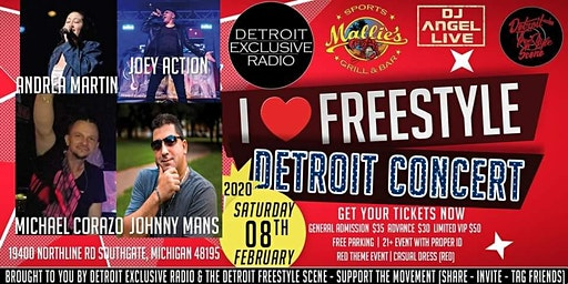 I Love Freestyle Concert (RED EVENT) at Mallies IN
