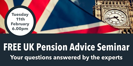 UK Pension Advice Seminar - Your questions answered by the experts tickets
