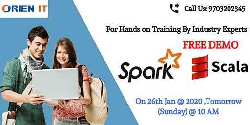 Spark Free Demo Session  On 26th Jan, 10 AM , Hyd  At Orien IT