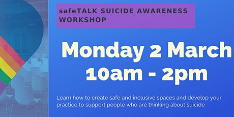 safeTALK- Suicide Awareness Workshop  tickets