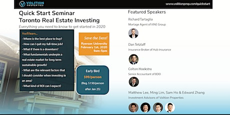 Quick Start Seminar – Toronto Real Estate Investing in 2020 tickets
