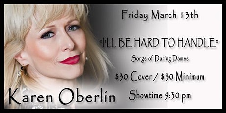 """Karen Oberlin - """"I'll Be Hard To Handle"""" Songs of Daring Dames tickets"""