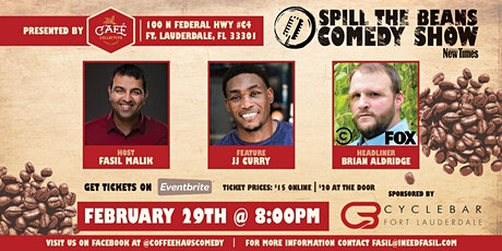Spill the Beans Stand Up Comedy Show- Brian Aldridge (Comedy Central & Fox) tickets