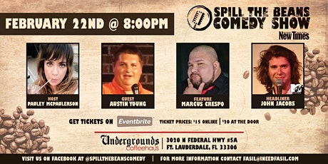 Spill the Beans Stand Up Comedy Show- John Jacobs (MTV) tickets