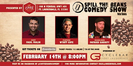 Spill the Beans Stand Up Comedy Show- Patrick Garrity (NBC & CBS) tickets