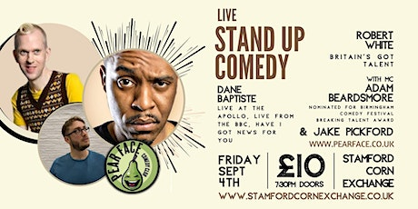 Live Stand up Comedy with Headliners Robert White & Dane Baptiste tickets