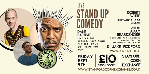 Live Stand up Comedy with Headliners Robert White & Dane Baptiste