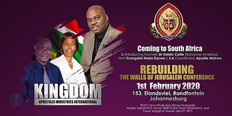 'REBUILDING THE WALLS OF JERUSALEM' CONFERENCE BY KAMI tickets