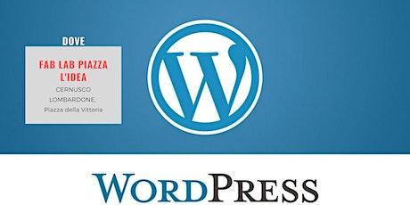 Corso base su WordPress gratuito biglietti