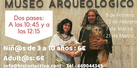 Visita Teatralizada Familiar, Museo Arqueológico Nacional, Grecia o Egipto entradas