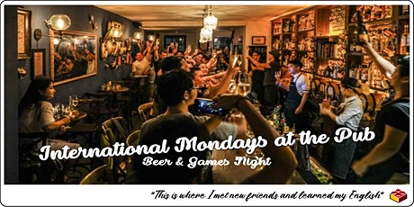 International Mondays at the Pub: Beer and games Night tickets