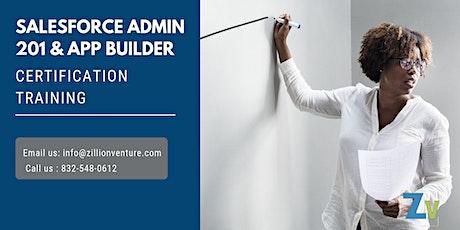 Salesforce Admin 201 and AppBuilder Certification Training in Miramichi, NB tickets