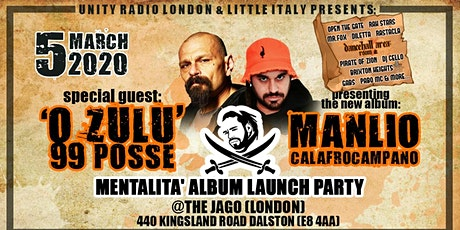 'O ZULU' 99 POSSE + MANLIO album launch party tickets