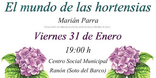 """Charla """"El mundo de las hortensias"""""""