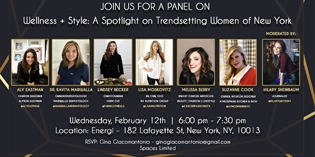 Join us for a Panel Wellness & Style A Spotlight Trendsetting Women of NYC tickets