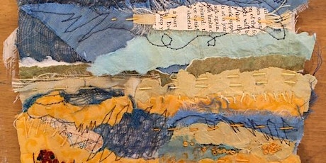 Learn to make a textile paper and stitch picture tickets