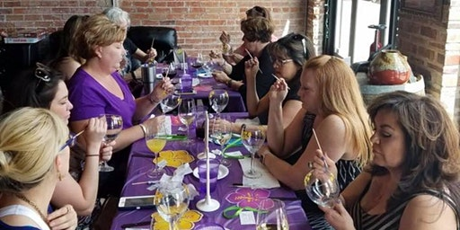 Wine Glass Painting class at Blanc & Rouge Wine Bar 2/28 @ 6pm