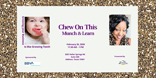 Chew On This    -     Lunch, Learn & Network