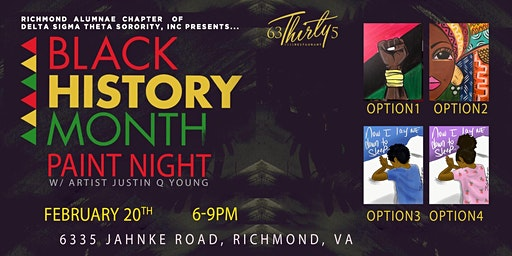 Black History Month Paint Night